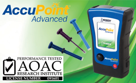 AccuPoint Advanced ได้รับการรับรองจาก AOAC-RI
